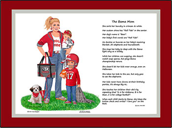Bama Mom with Two Children - Bow