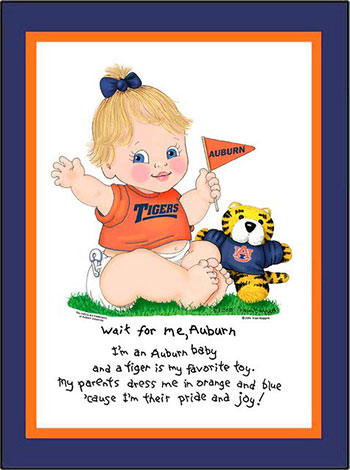 Auburn Wait for Me Baby Girl Matted Print