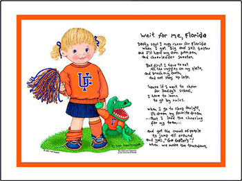 Florida Wait for Me Cheerleader Matted Print