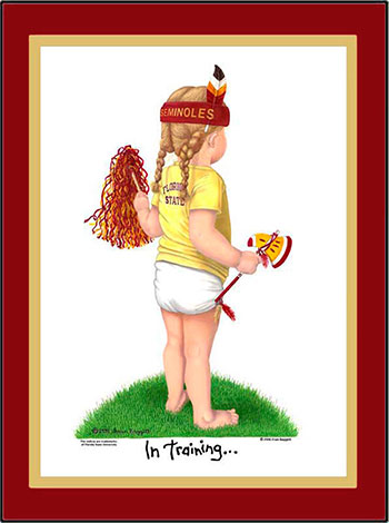 Florida State In Training Cheerleader Matted Art Print