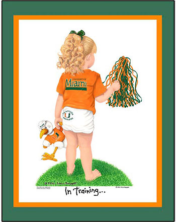 Miami In Training Cheerleader Matted Print