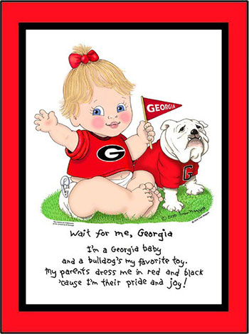Georgia Wait for Me Baby Girl Matted Print