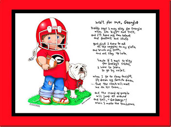 Georgia Wait for Me Football Player Matted Print
