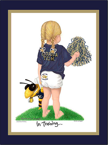 Georgia Tech In Training Cheerleader Matted Print
