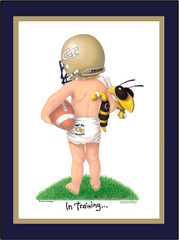 Georgia Tech In Training Football Player Matted Print