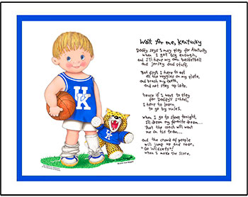 Kentucky Wait for Me Basketball Player Matted Print