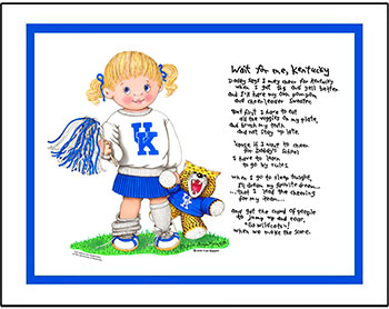 Kentucky Wait for Me Cheerleader Matted Print