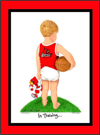 Louisville In Training Basketball Player
