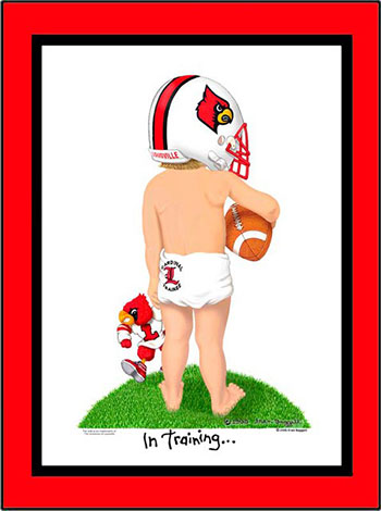 Louisville In Training Football Player