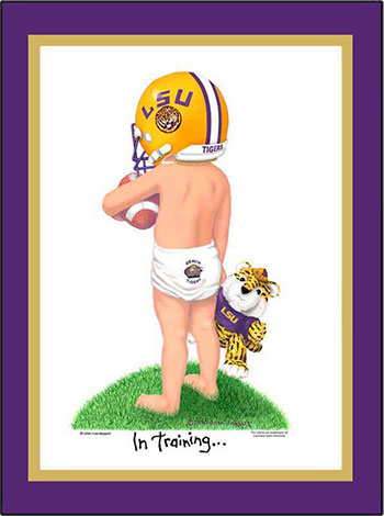 LSU In Training Football Player