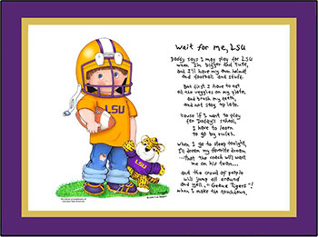 LSU Wait for Me Football Player