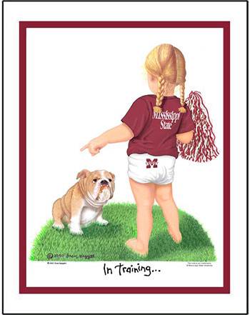 Mississippi State In Training Cheerleader
