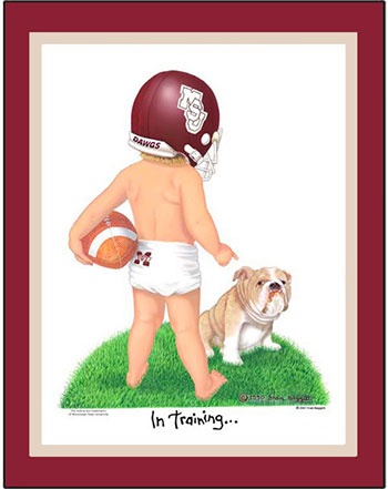 Mississippi State In Training Football Player