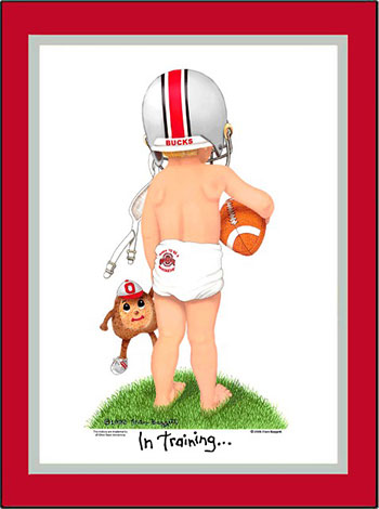 Ohio State In Training Football Player