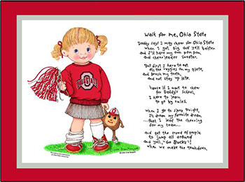 Ohio State Wait for Me Cheerleader