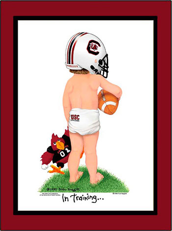 South Carolina In Training Football Player
