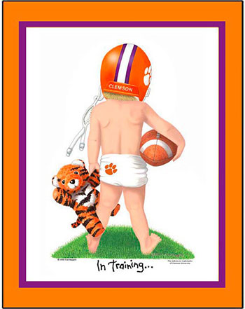 Clemson In Training Football Player