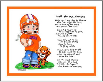 Clemson Wait for Me Football Player