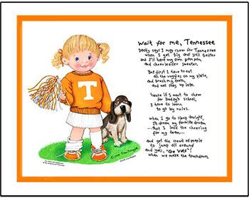Tennessee Wait for Me Cheerleader