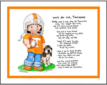 Tennessee Wait for Me Football Player