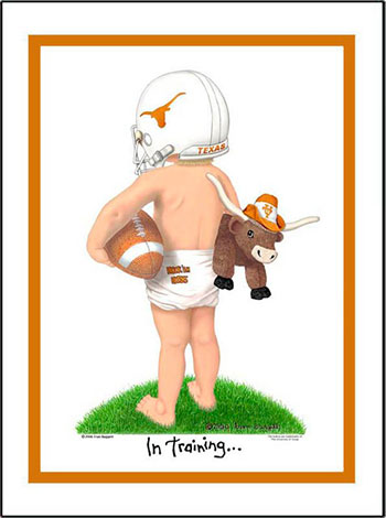 Texas In Training Football Player