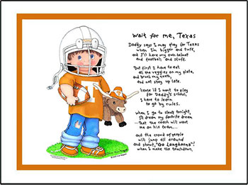 Texas Wait for Me Football Player