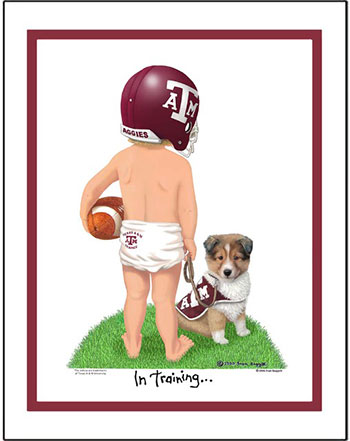 Texas A&M In Training Football Player