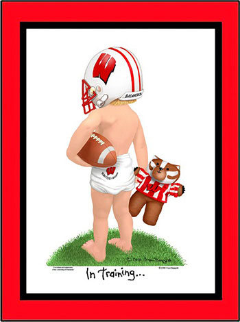 Wisconsin In Training Football Player